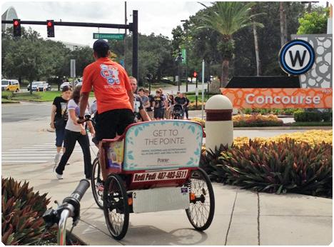 Pointe_Orlando_advertises_with_pedicabs.jpg