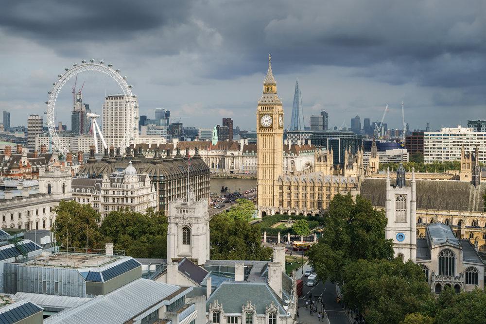 Vista del Palacio de Westminster