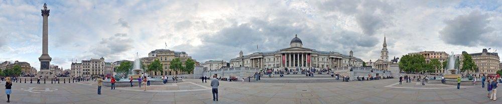 Panoramica de Trafalgar Square