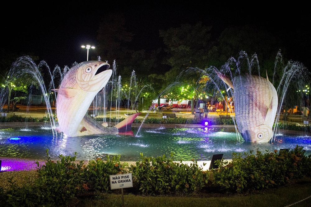 Plaza de la Libertad en el centro de Bonito