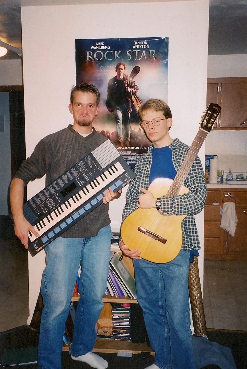 Roommates: JR, keyboard; Steve, Guitar.