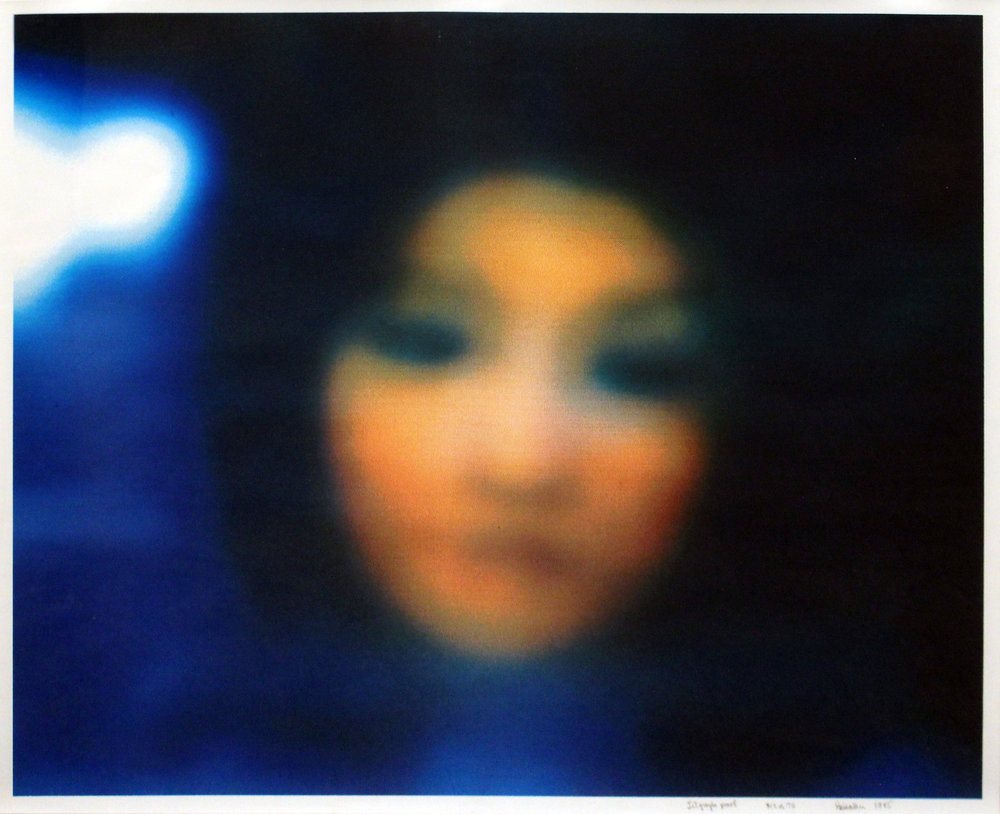 """Robert Heinecken  Untitled (Connie Chung), 1985 Jetgoraph proof From the numbered edition of 70 Signed, numbered, dated and annotated """"Jetograph proof"""" in pencil on recto Image: 23 x 28.5 inches; Sheet: 24 x 29.5 inches; Framed: 29 x 34 inches Estimate: $2,500/$3,500"""