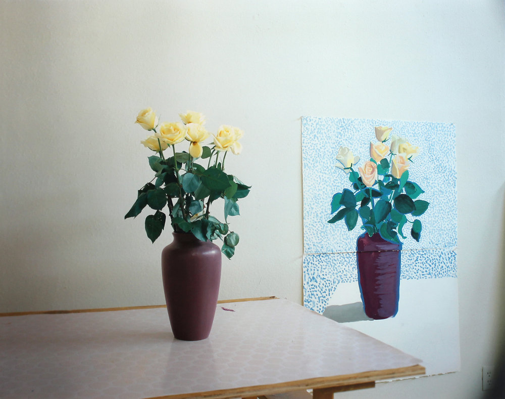 David Hockney   Roses for Mother 4. Dec. 1995 , 1995 Digital inkjet print From the numbered edition of 45 Signed, numbered and dated in pencil on recto Image: 32.5 x 41.5 inches; Sheet: 34.5 x 43 inches; Framed: 37 x 46 inches Provenance: Richard Gray Gallery, Chicago, IL, tag on verso Estimate: $4,000/$5,000