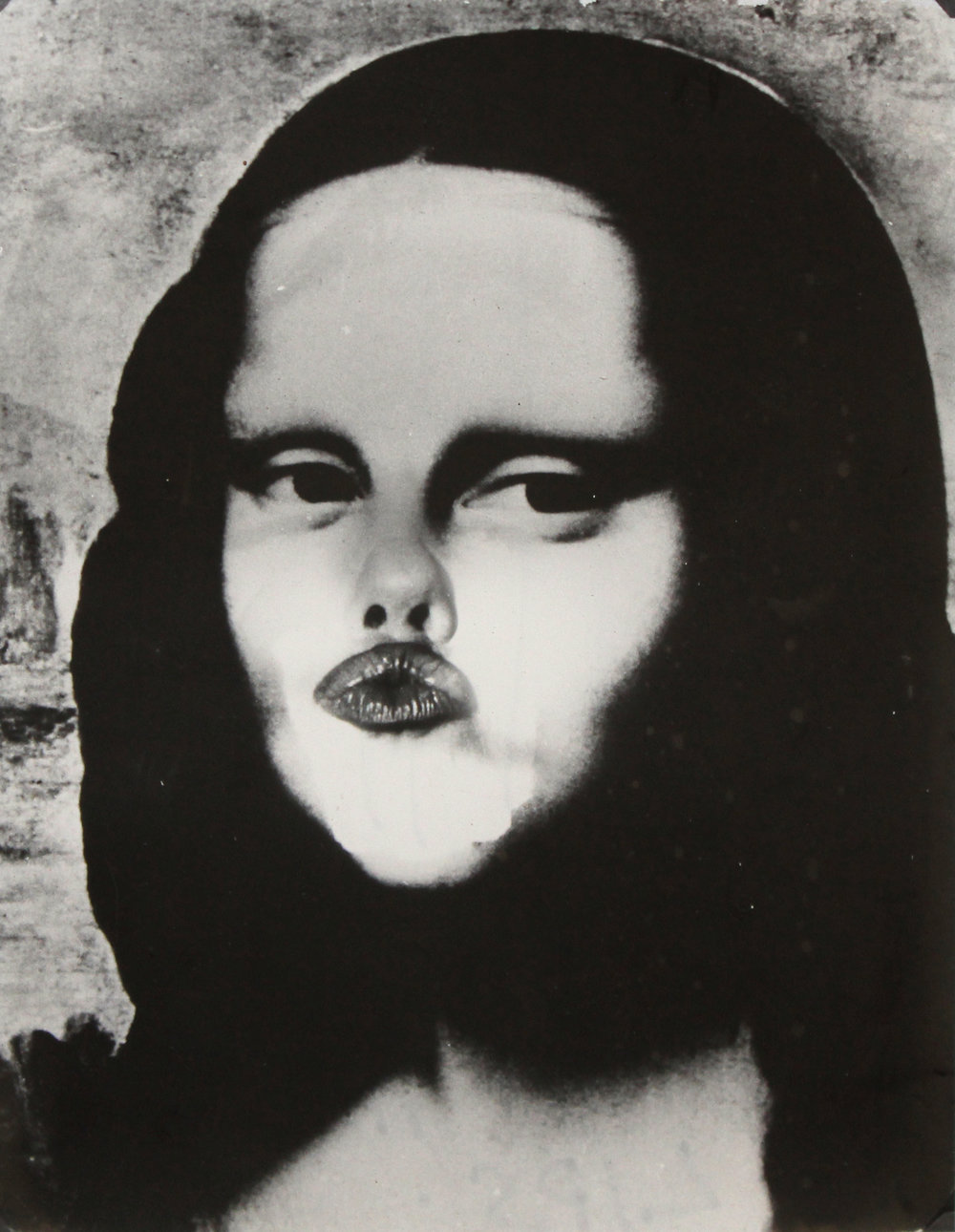 """WEEGEE (Arthur Fellig)    Lot of Five   Mona Lisa (Distortion Series) , c. 1958 Suite of five gelatin silver prints Each stamped """"WEEGEE the famous"""" on verso Image: 9 x 7 inches, each; Framed: 16 x 14 inches, each Estimate: $3,000/$4,000 (Lot of Five)"""