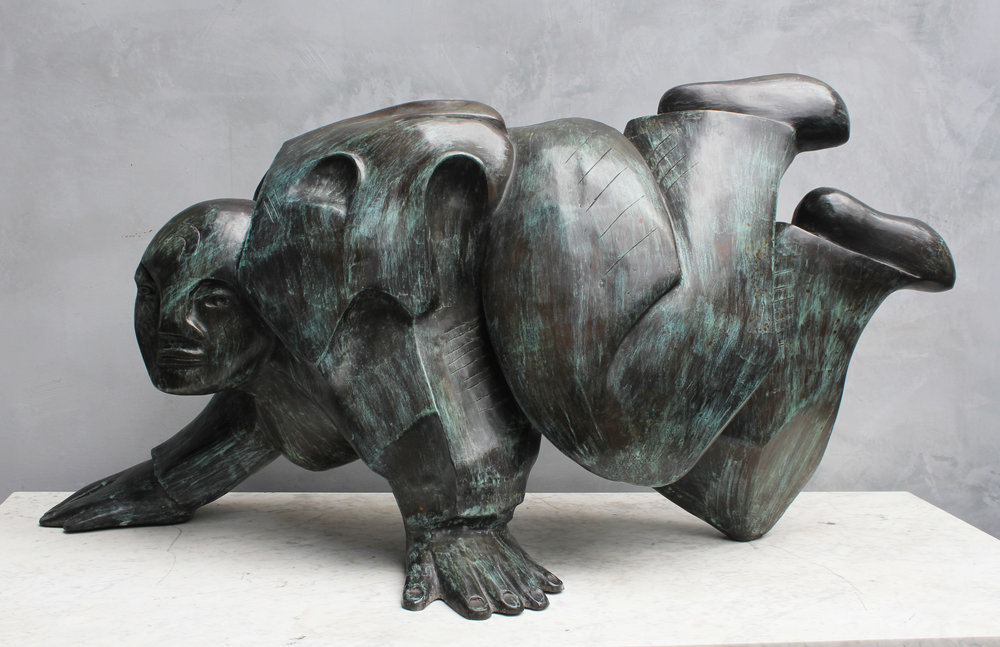 """Jose Luis Cuevas  Untitled, 1995 Bronze Inscribed signature, dated, and annotated """"P/A"""" on hand Estimate: $30,000/$35,000"""