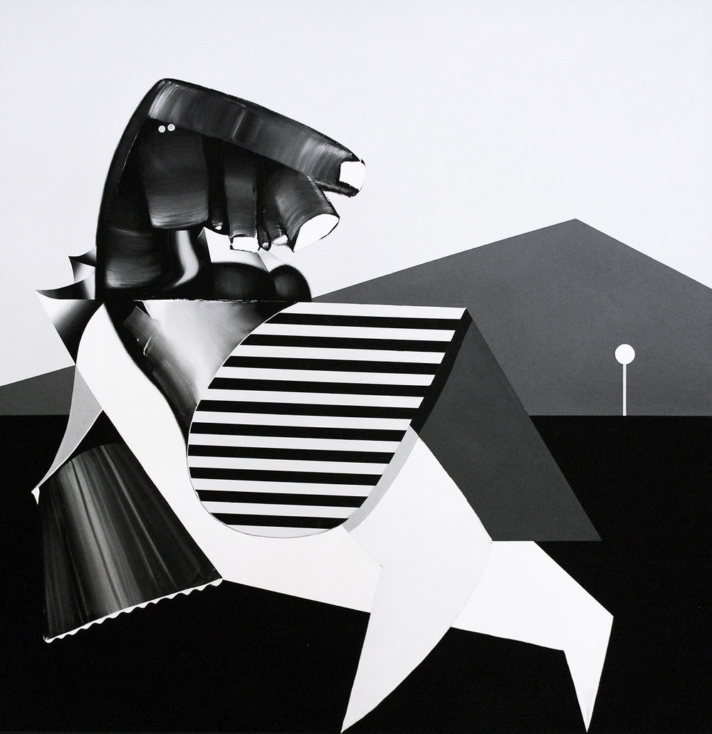 Tomoo Gokita   Torture Garden , 2013 Acrylic and gouache on linen Signed and dated on verso Image: 63.5 x 63.5 inches; Framed: 66 x 66 inches Provenance: Mary Boone Gallery, New York, NY Estimate: $120,000/$150,000