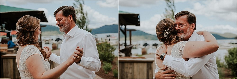 Whitefish montana wedding first look with dad getting ready.jpg