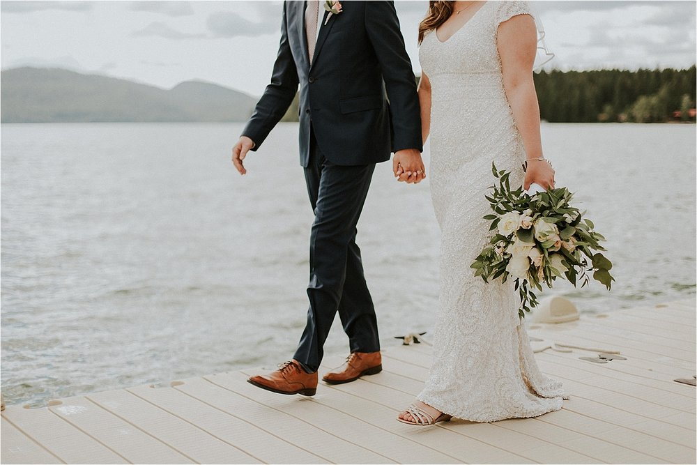 whitefish montana wedding walking by the lake.jpg