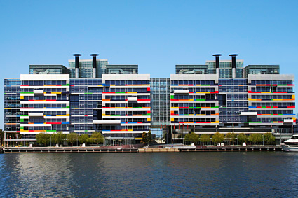 National Australia Bank's building in the Melbourne Docklands. Simon helped build the case for investment in approaches to provide high levels of indoor environmental quality and improve employee productivity.