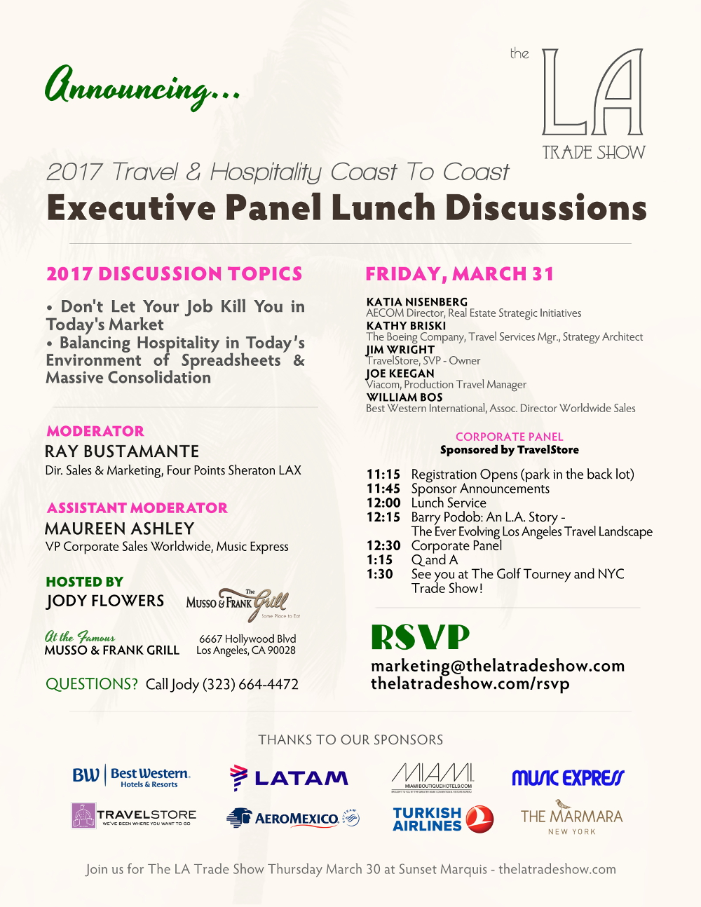 The L.A. Trade Show 2017 Corporate Panel (Click to see larger version)