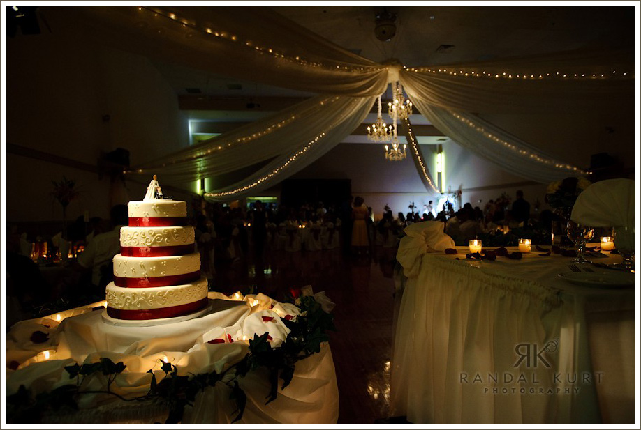 The cake and venue