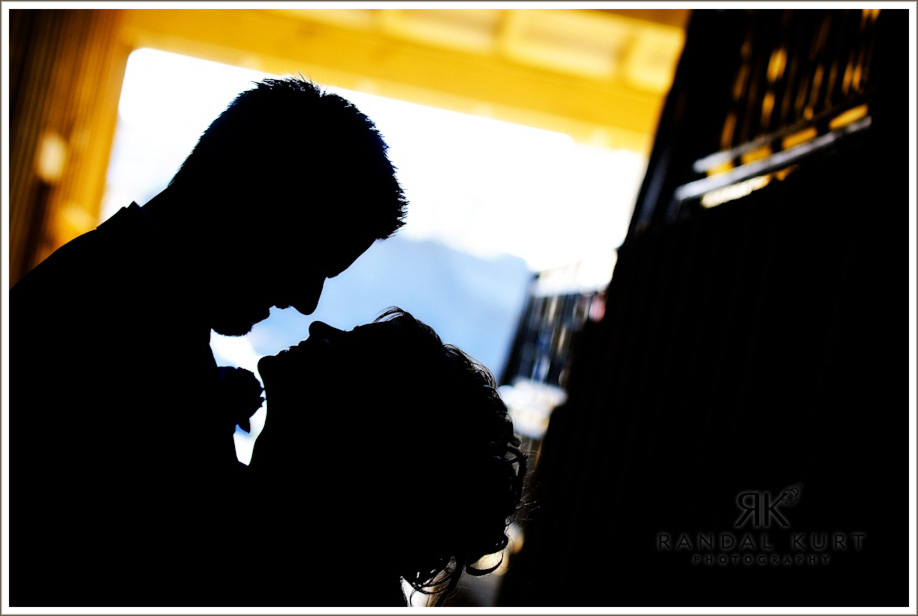 The silhouetted couple