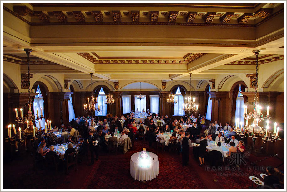 The ballroom reception