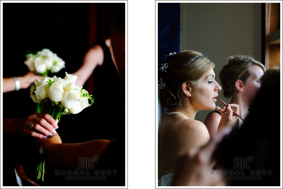 The finishing touches before the wedding ceremony