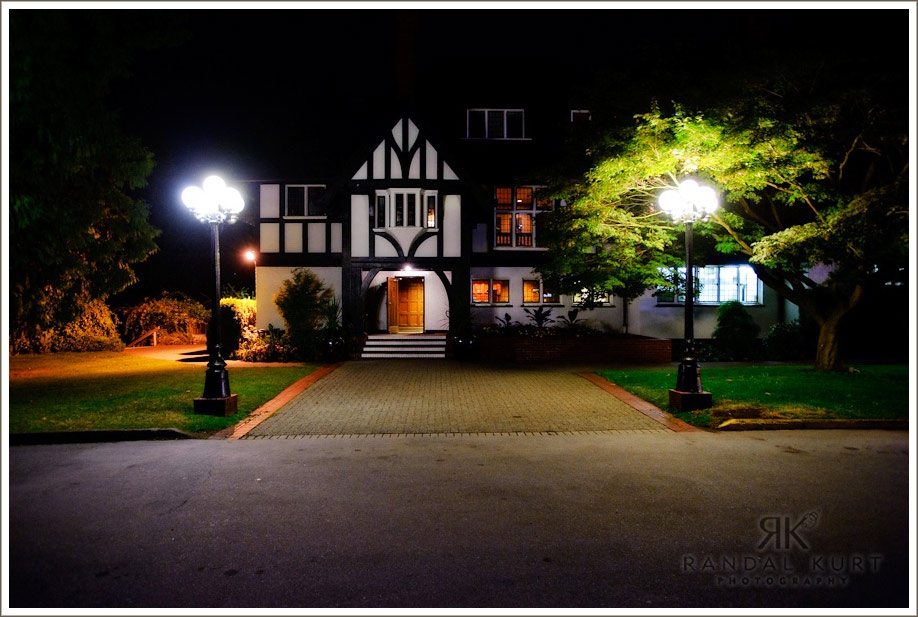 Vancouver's Brock House at night