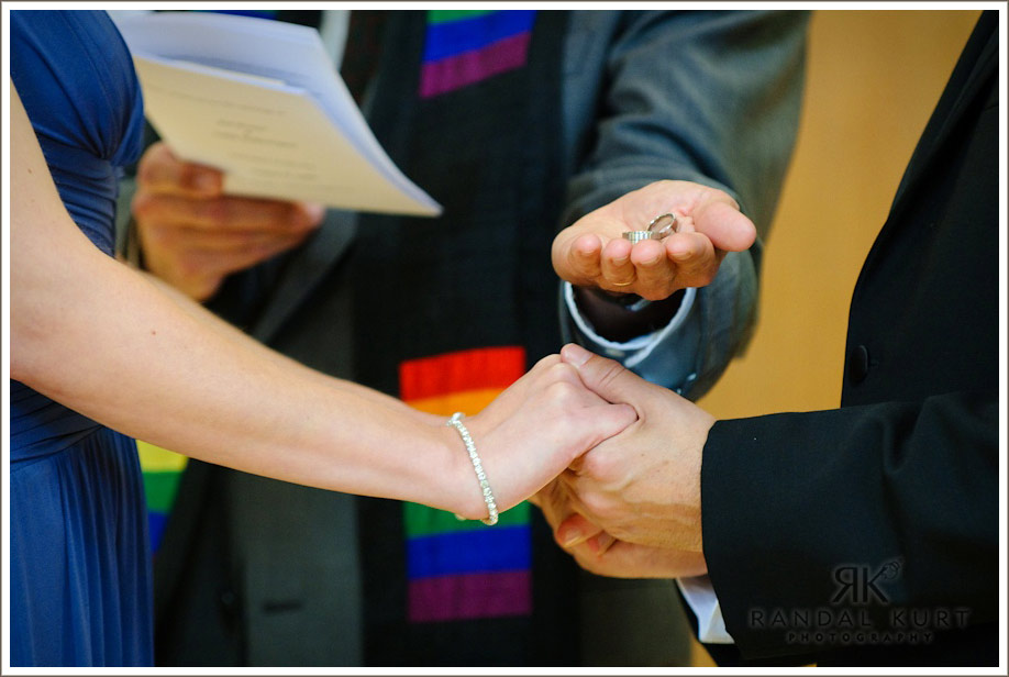 The wedding ring exchange