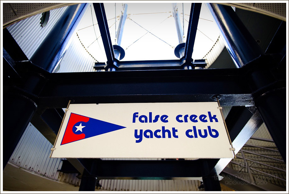 The False Creek Yacht Club in Vancouver