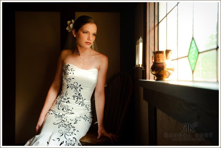 A bride contemplating