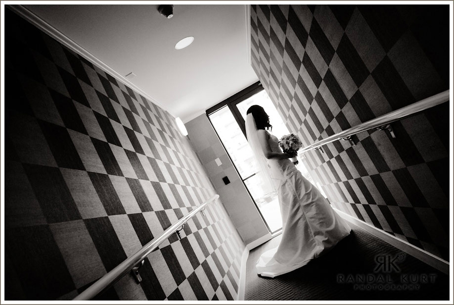 The bride in the hallway