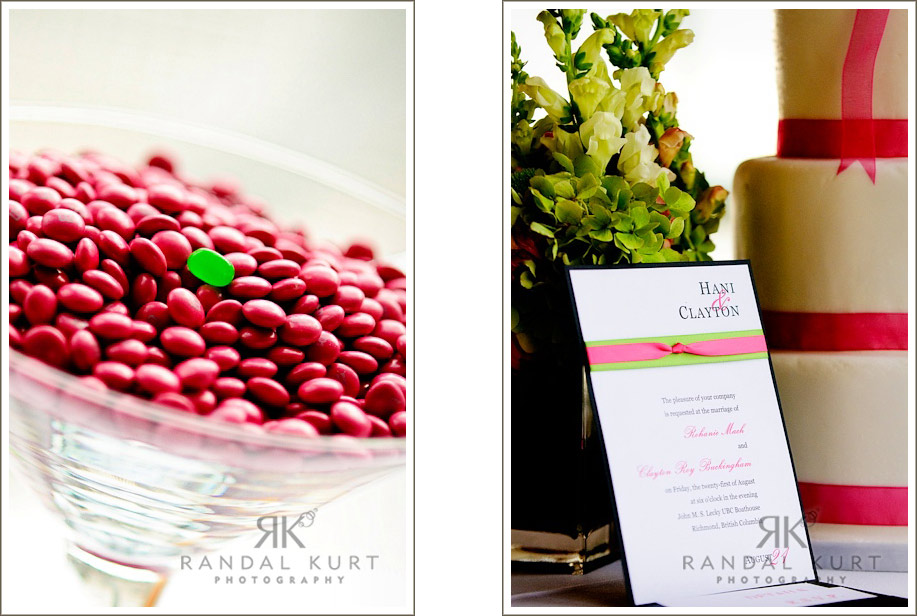 Jellie beans and wedding invitations