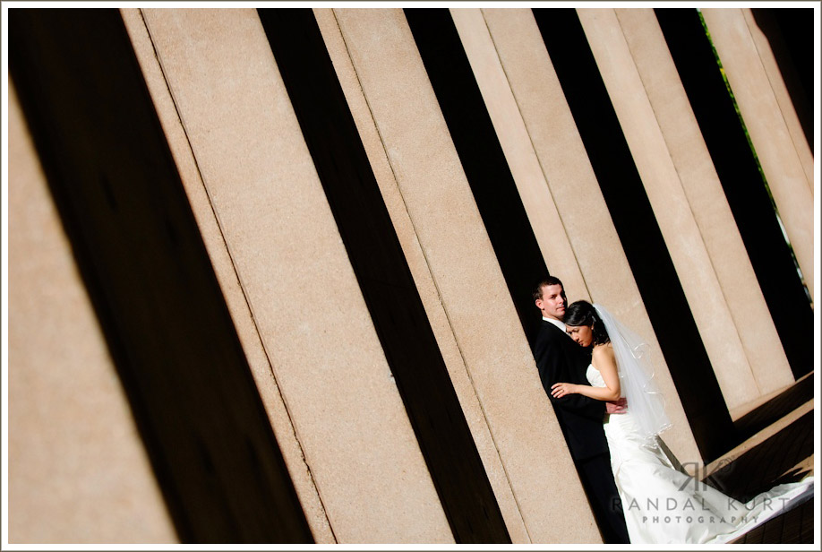 The wedding couple at the Vancouver Public Library