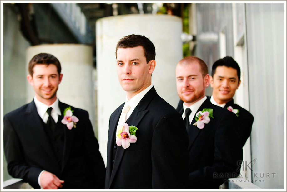 Just the groom and groomsmen