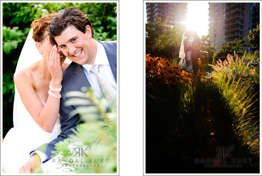Images of Michelle and Matthew in the sun
