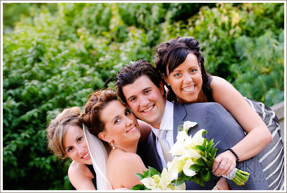 Michelle and Matthew and the bridesmaids