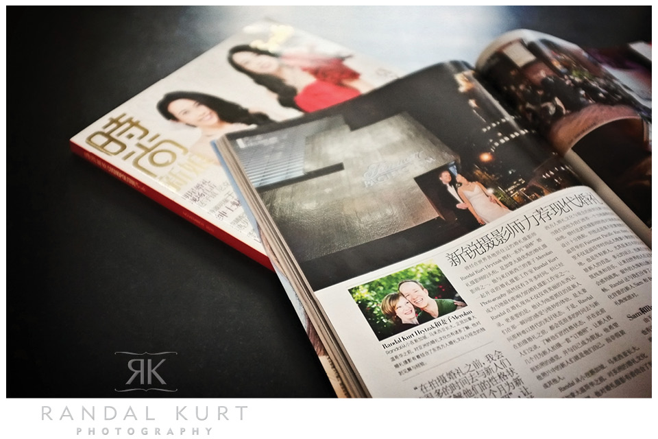 Randal Kurt Photography is featured in Cosmo Bride Magazine, one of the highest circulation wedding magazines in the world