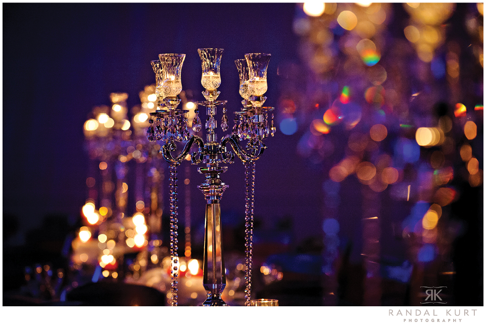 Candelabras decorated every table
