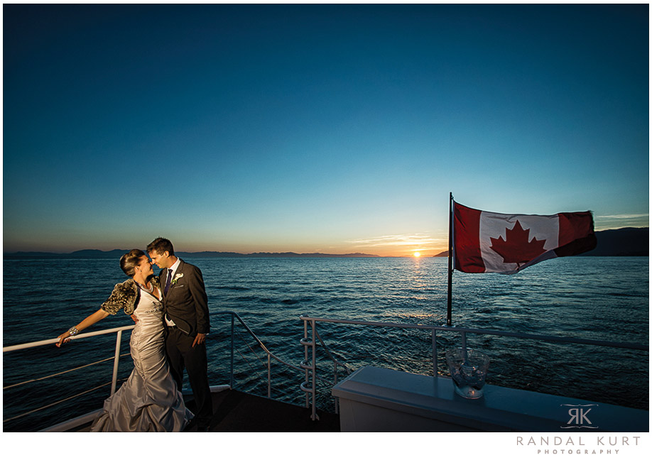 Wedding Photography for the Wedding Yacht in Vancouver
