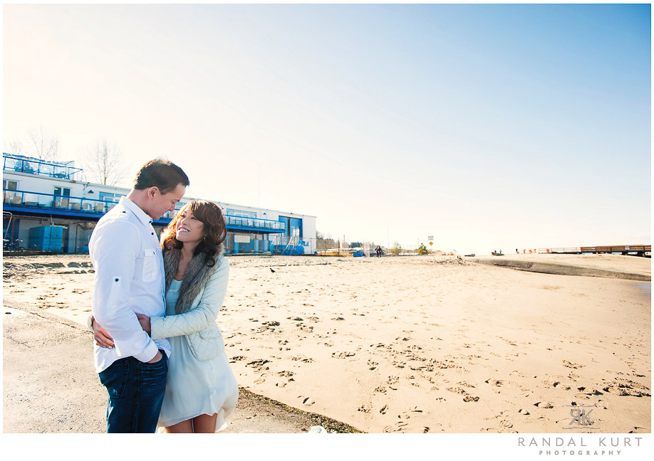 An Engagement Session with Sandy and Daniel on Jericho Beach
