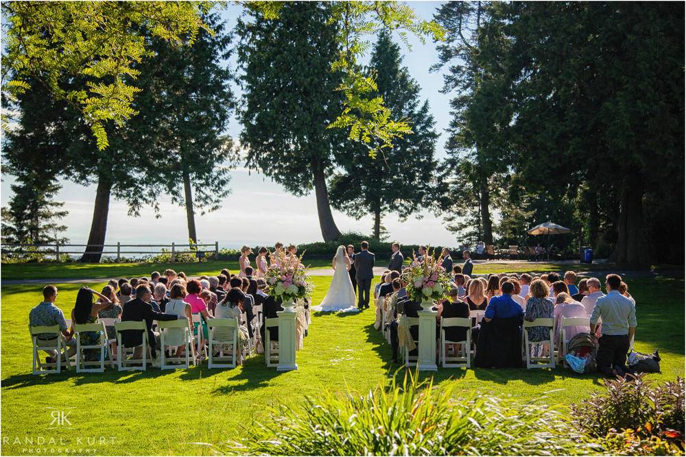 The wedding ceremony at the Shaughnessy Golf and Country Club