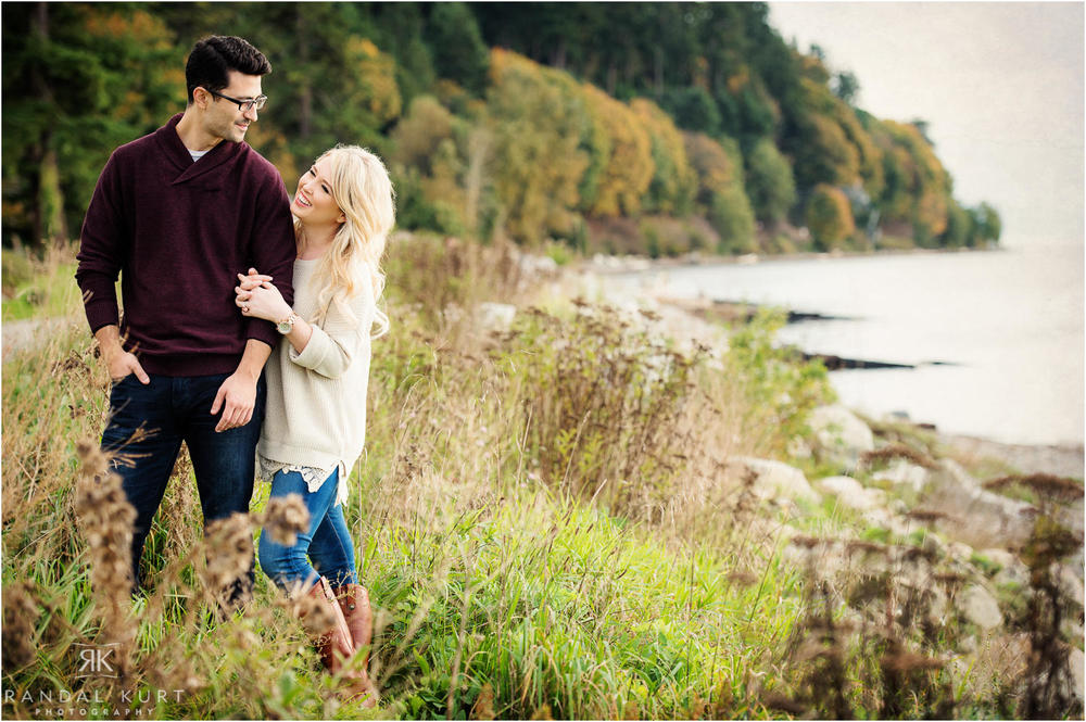 An engagement session in White Rock.