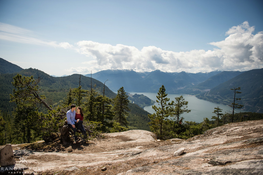 At the top of Squamish by the Sea-to-Sky Gondola.