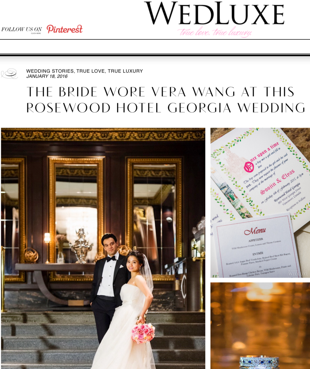 Featured in Wedluxe Magazine, Soojin & Elias, January 18, 2016