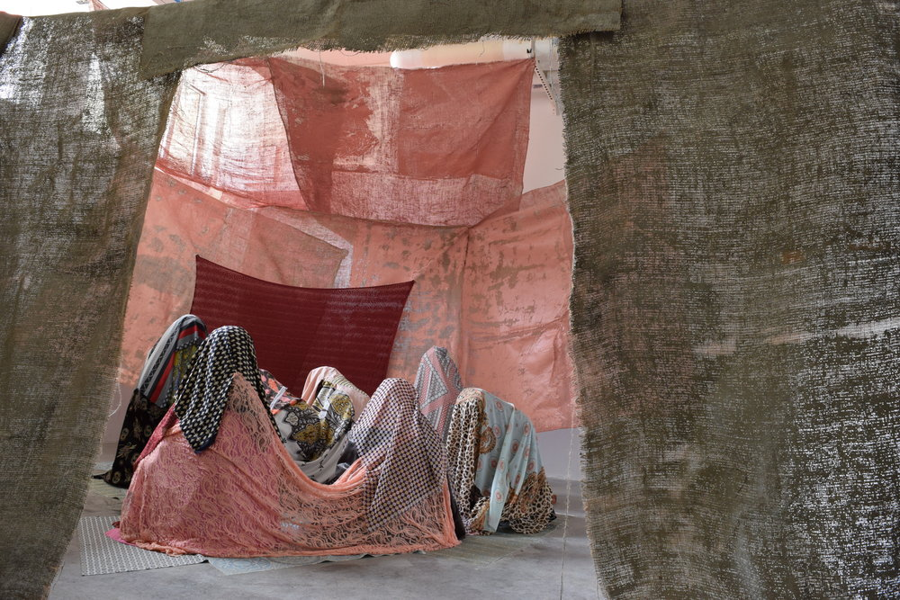 Yasmine K. Kasem. Installation view from Masricani 2017, a mixed media installation presented by the San Juan Island Museum of Art. Image courtesy of the artist.