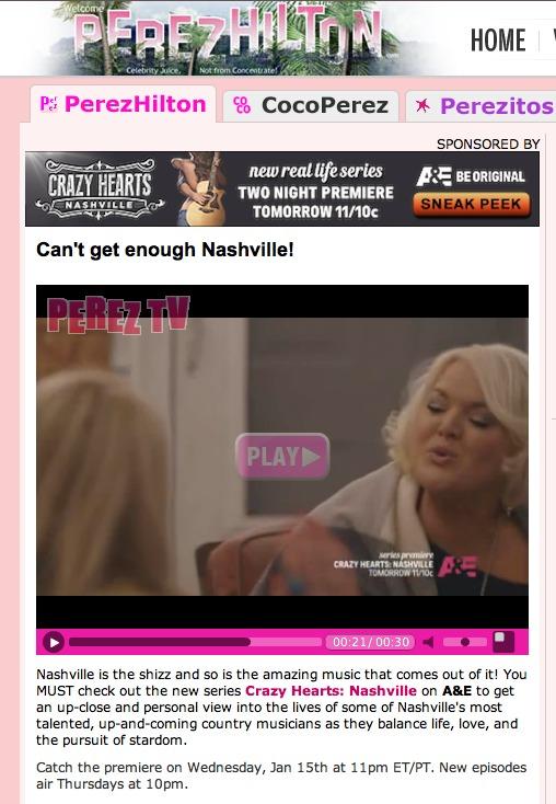 JANUARY 2014:HEATHER AND THE CRAZY HEARTS: NASHVILLE CREW TAKE OVER PEREZHILTON.COM