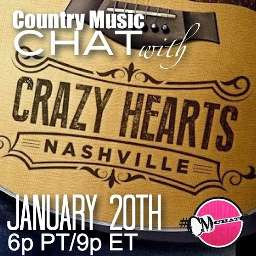 JANUARY 2014: HEATHER AND THE CAST OF CRAZY HEARTS: NASHVILLE WERE INTERVIEWED BY JESSICA NORTHEY FOR @CMCHAT