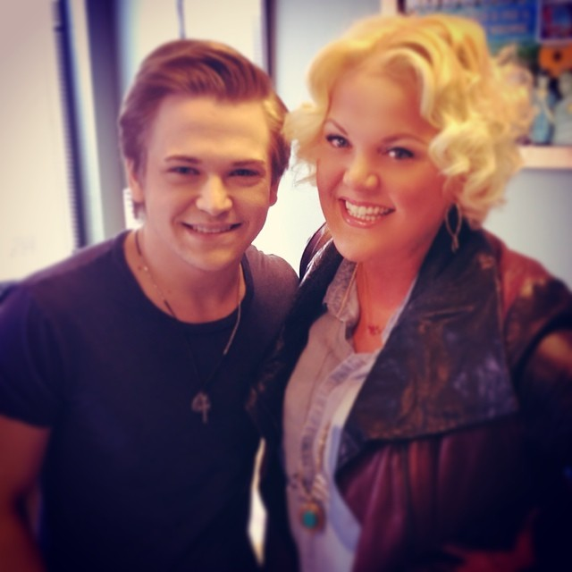 "MARCH 2014 - HEATHER INTERVIEWED COUNTRY STAR HUNTER HAYES IN NASHVILLE FOR US WEEKLY ON THE EVE OF THE RELEASE OF HIS NEW ALBUM, ""STORYLINES."""