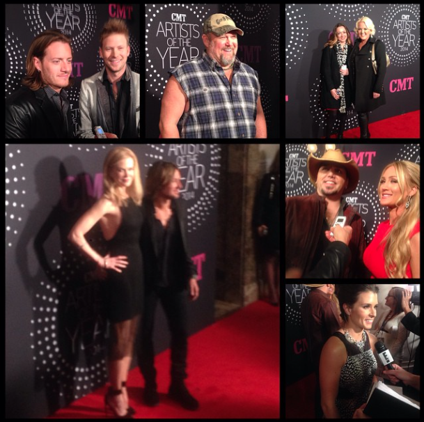 DECEMBER 2014 - HEATHER COVERED THE 2014 CMT ARTISTS OF THE YEAR EVENT FOR US WEEKLY AT THE SCHERMERHORN SYMPHONY CENTER IN NASHVILLE, TN.