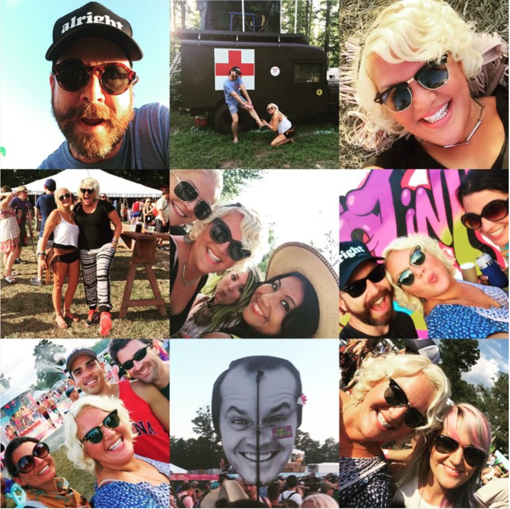 JUNE 2015 - HEATHER COVERS THE BONNAROO MUSIC AND ARTS FESTIVAL FOR US WEEKLY