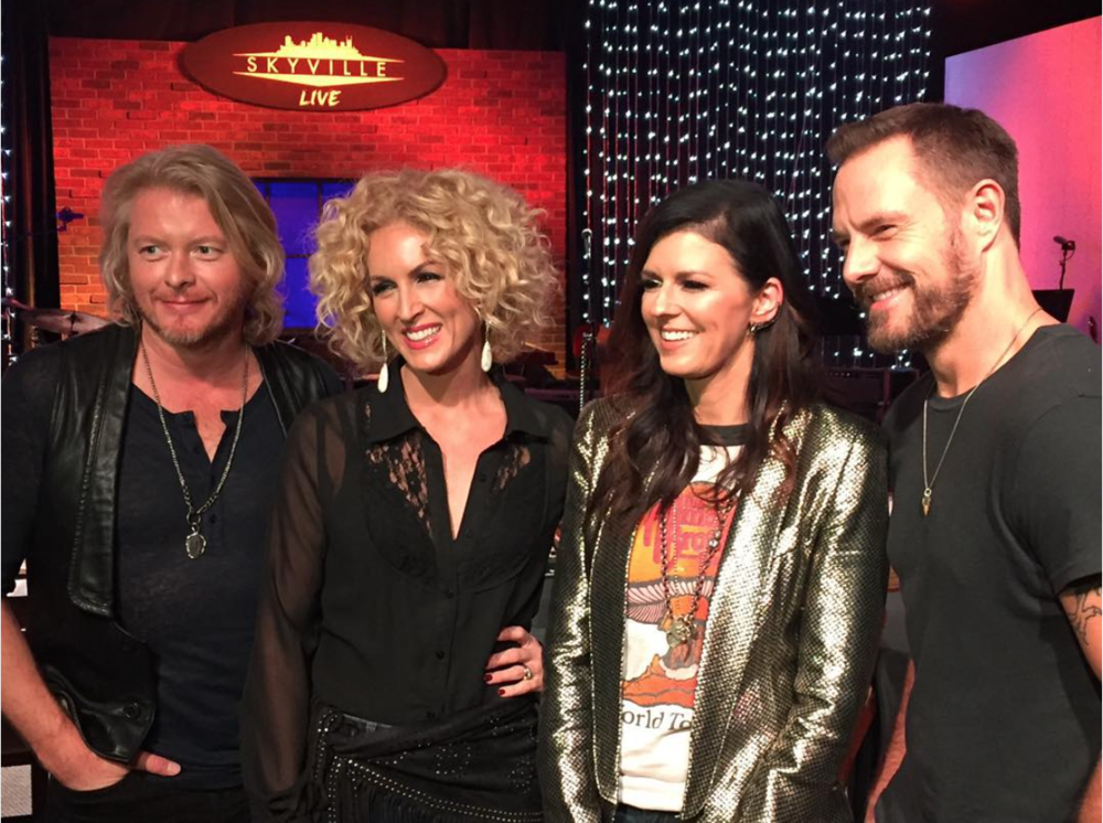 FEBRUARY 2016 - INTERVIEWING LITTLE BIG TOWN AT SKYVILLE LIVE FOR US WEEKLY