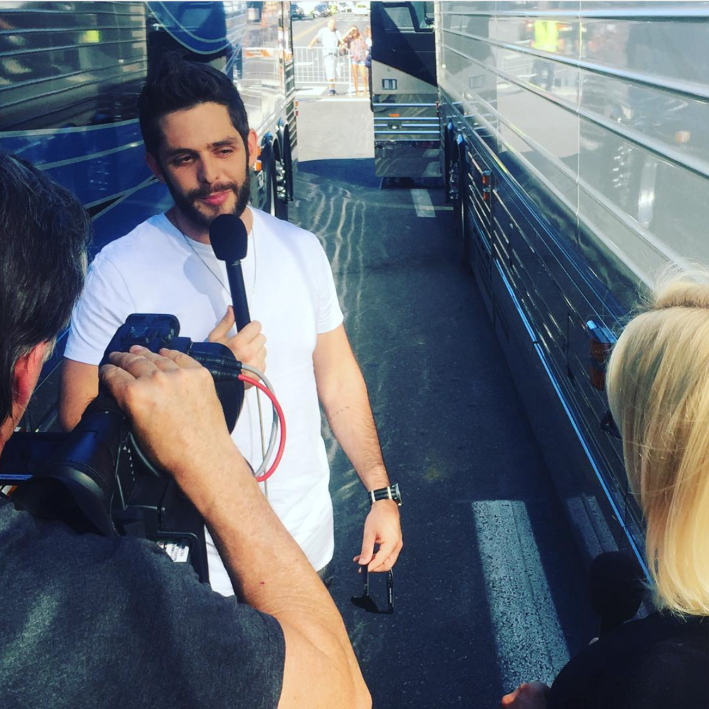 JUNE 2016 - INTERVIEWING THOMAS RHETT AT THE CMA MUSIC FESTIVAL FOR US WEEKLY