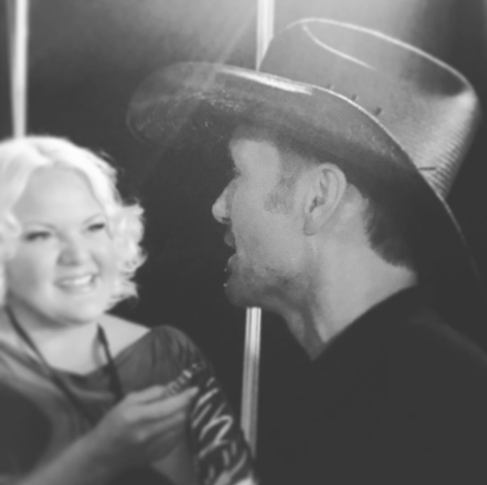 JUNE 2016 - INTERVIEWING TIM MCGRAW AT THE CMT AWARDS