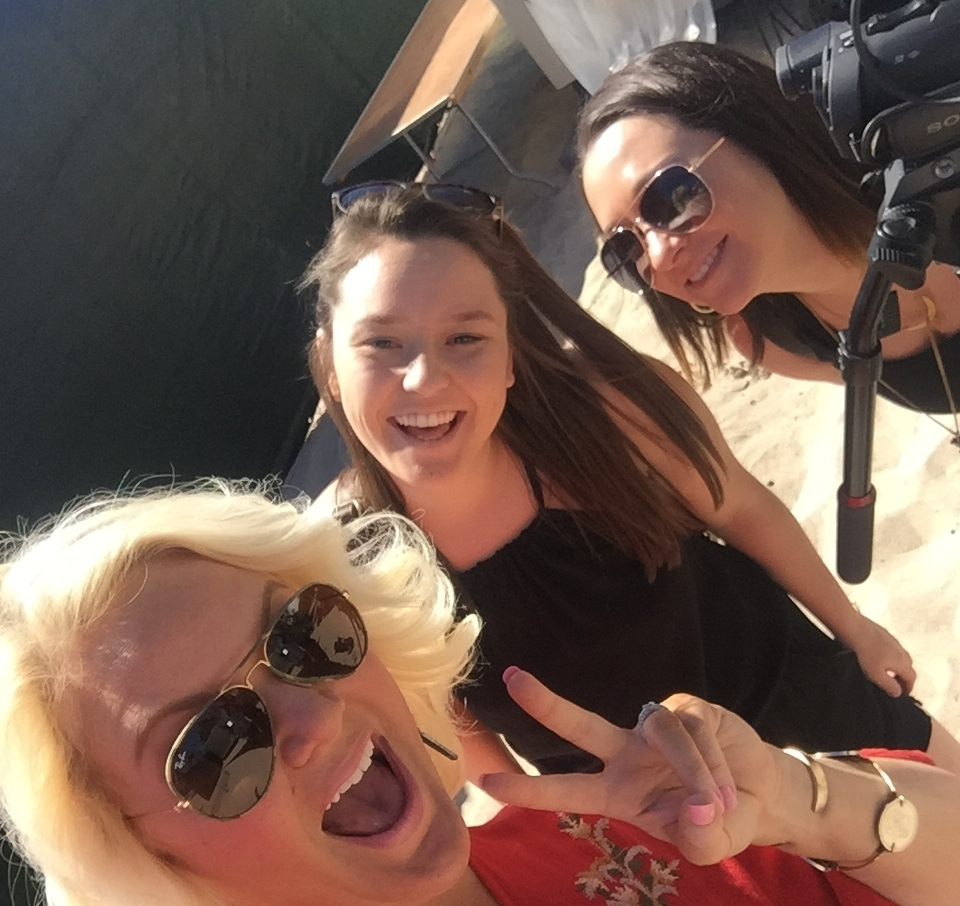 APRIL 2017 - COVERING THE TORTUGA MUSIC FESTIVAL IN FT LAUDERDALE, FL FOR MY COUNTRY NATION - PICTURED WITH TILLIE MCNALLY AND KELLY MARINO