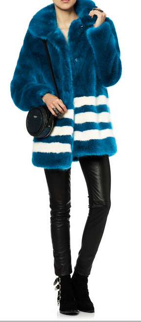Shrimp's Blue Fur Effect Pallas Coat at Avenue 32 (which is currently sold out but hopefully not for long)