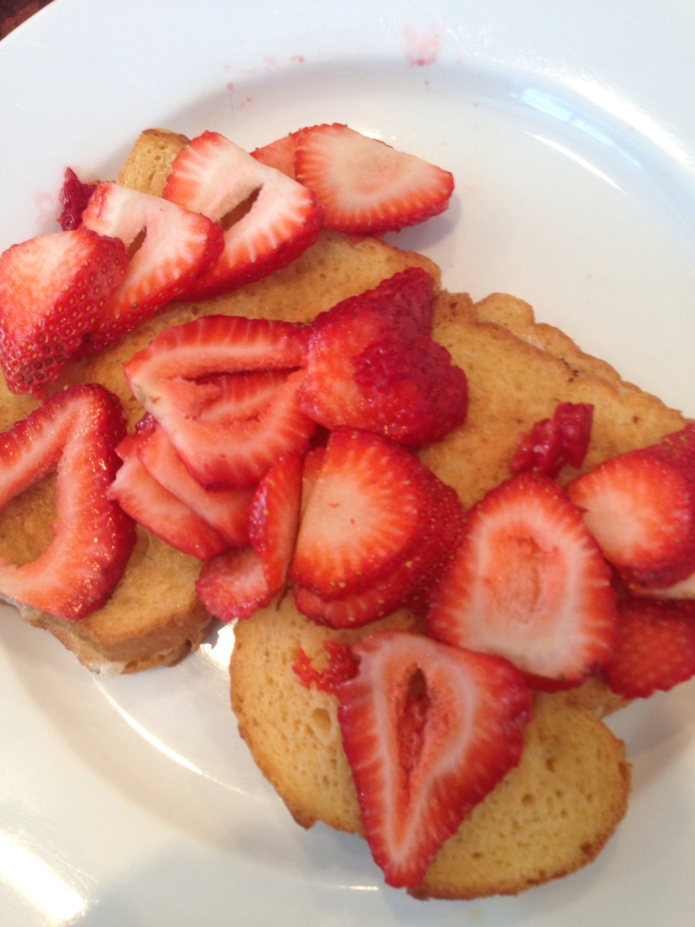 Vegan French Toast with cream and strawberries
