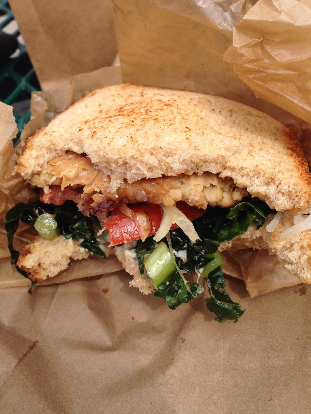 Tempeh Maple Mustard sandwich
