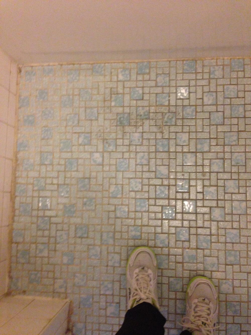 Glorious floor tile in a bathroom